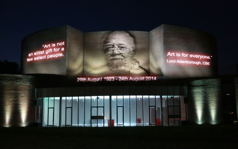 Projection Mapping celebrating the life of Richard Attenborough